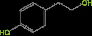 Тирозол в листьях оливы